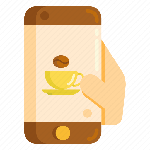 app, coffee, mobile, smartphone icon