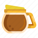 coffee, kettle, pot, teapot icon