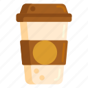 coffee, cup, disposable, paper cup icon