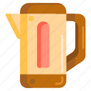 electric kettle, flask, hot flask, jug, kettle icon