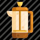 coffee, coffee brew, french, french press, press icon