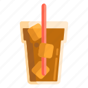 beverage, drink, ice chocolate, ice coffee, ice tea icon
