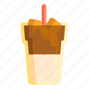coffee, ice coffee, ice latte icon