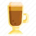 coffee, cream, irish coffee icon