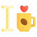 coffee, coffee lover, i love coffee icon