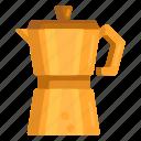 coffee pot, moka, moka pot, pot icon