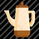 coffee, kettle, percolator icon