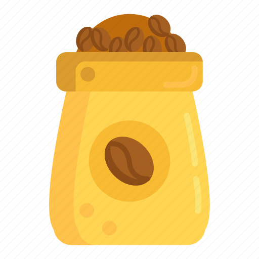 beans, coffee, coffee beans, coffee sack, sack icon