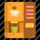 coffee, coffee machine, instant coffee machine, vending machine icon