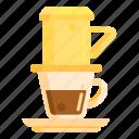 coffee brew, coffee brewing, vietnamese coffee icon