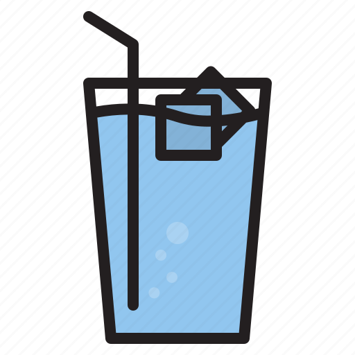 drink, glass, iced, water icon