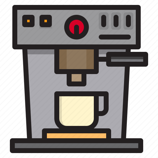 coffee, drink, machine, maker, tool icon