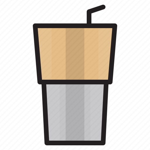 coffee, cup, drink, iced icon