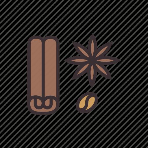 cinnamon, food, ingredient, ingredients, seasoning, spice icon