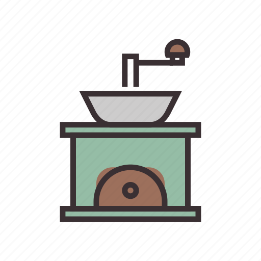 cafe, coffee, equipment, grinder, mill icon