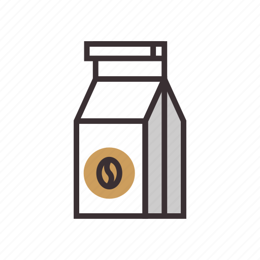 beans, cafe, coffee, pack, packaging icon