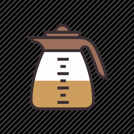 coffee, drink, flask, kettle, maker, pot icon