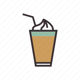 beverage, coffee, drink, glass, shake icon