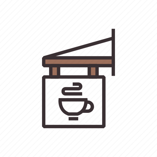 cafe, coffee, restaurant, shop, sign, signboard icon