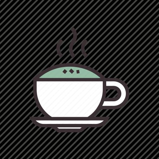 beverage, coffee, cream, cup, drink, hot, tea icon