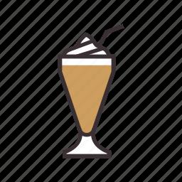 beverage, coffee, cream, drink, ice icon