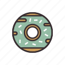 bakery, dessert, donut, food, pastry icon