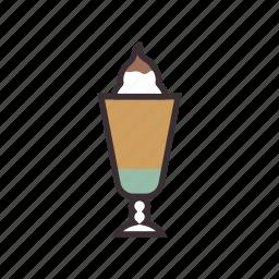 coffee, cream, frappe, iced, mocha icon