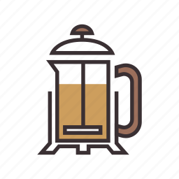 coffee, drink, french, press icon