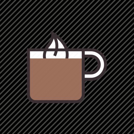 beverage, chocolate, coffee, cream, drink, hot, mug icon
