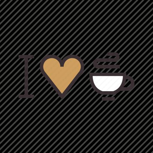 coffee, i, love icon