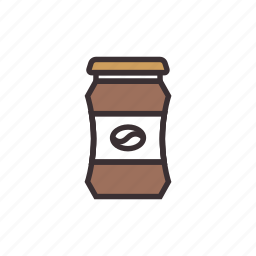 coffee, instant, powder icon