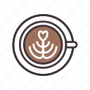 cappuccino, coffee, espresso, latte icon
