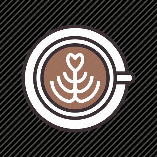 cappuccino, coffee, espresso, latte icon