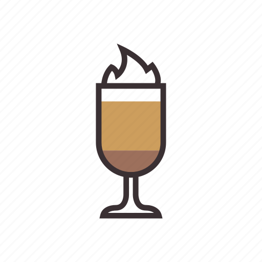beverage, coffee, drink, glass, latte icon