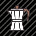 moka, pot, coffee icon