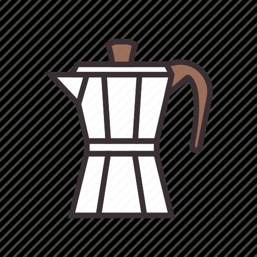 coffee, moka, pot icon
