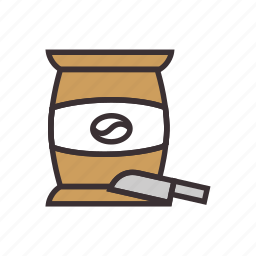 beans, coffee, sack icon