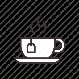 bag, cup, drink, hot, tea icon