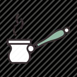 brew, coffee, gezve, turkish icon