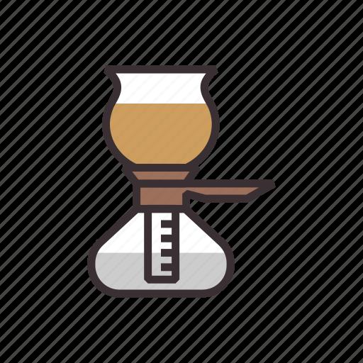 brew, coffee, pot, vacuum icon