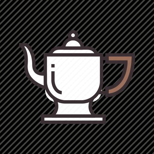 coffee, pot, vintage icon