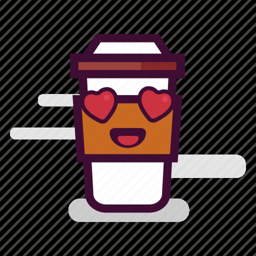 caffeine, cappuccino, coffee, cup, love, takeaway, valentine icon