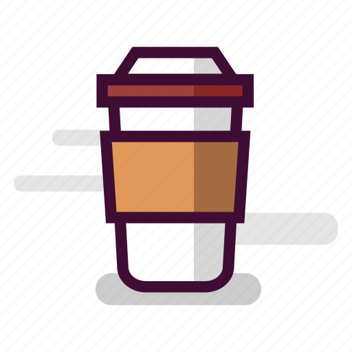 brown, caffeine, cappuccino, coffee, cup, mocha, takeaway icon