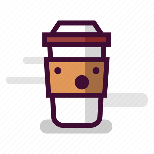 awe, caffeine, cappuccino, coffee, cup, surprise, takeaway icon