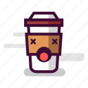 caffeine, cappuccino, coffee, cup, dead, takeaway, unhealthy icon