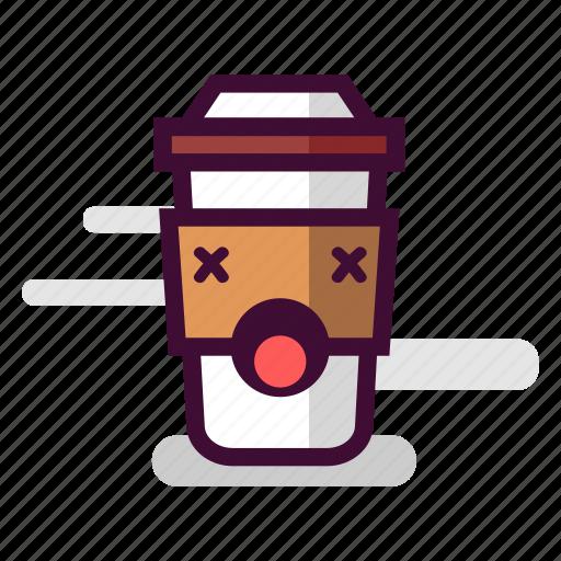 caffeine, cappuccino, coffee, cup, dead, takeaway, unhealthy icon