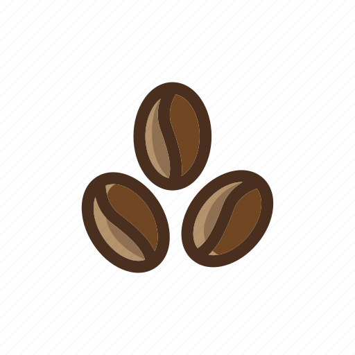 beans, brown, coffee, color, filled icon