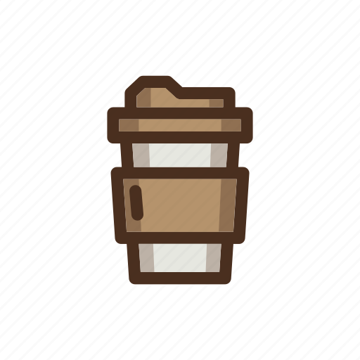 coffee, color, cup, filled, papercup icon