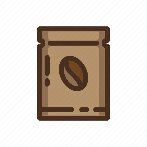 bag, beans, coffee, color, filled, fresh, roastery icon