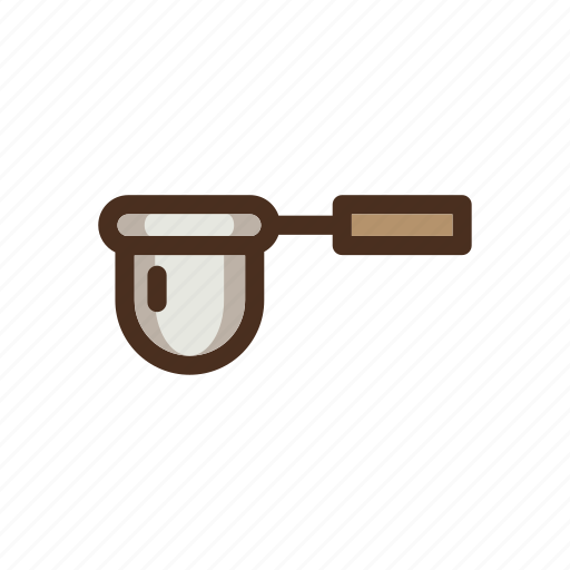 brewing, cloth, coffee, color, dripper, filled, manual icon